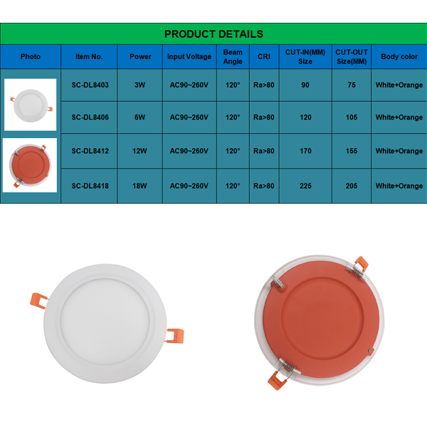 Round Recessed Utral Thin LED Panel Light