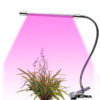 led plant light with flexible gooseneck tube and clip